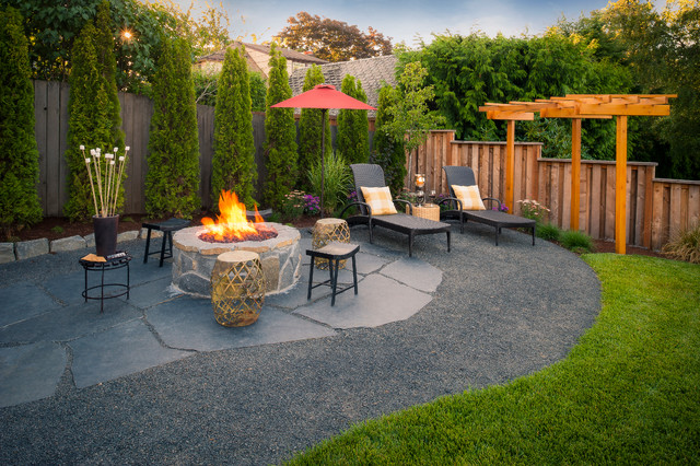 Paradise restored landscaping exterior design · landscape architects landscape designers auerbach property american traditional patio
