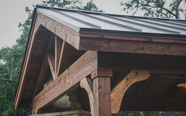Inspiration for a craftsman patio remodel in Austin