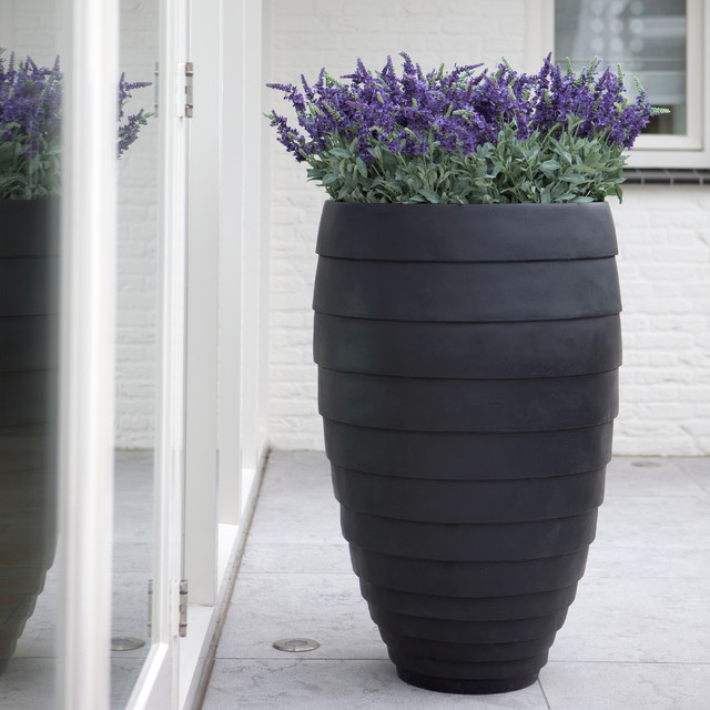 Authenteak Lightweight Fiberglass Planters Modern