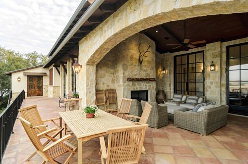 rustic-patio 15 Incredible Outdoor Wicker Furniture Designs