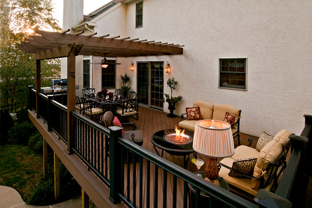 Award Winning Outdoor Deck Traditional Patio