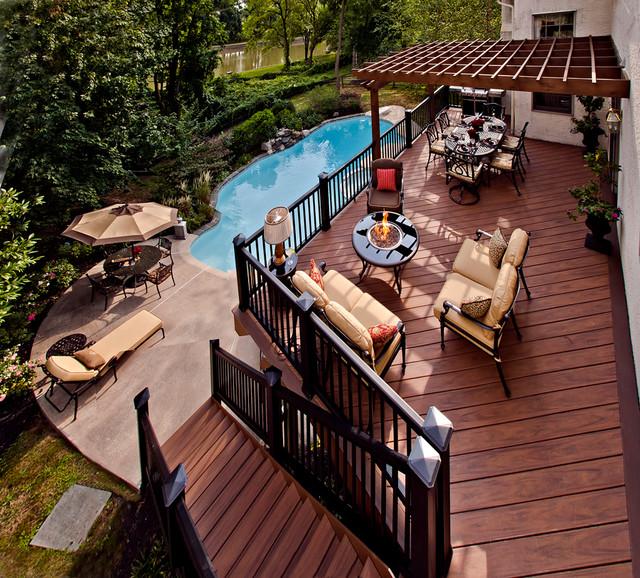 Award Winning Outdoor Deck Traditional Patio