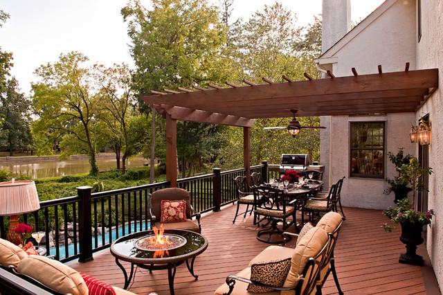 Award winning outdoor deck traditional patio for Award winning backyard designs