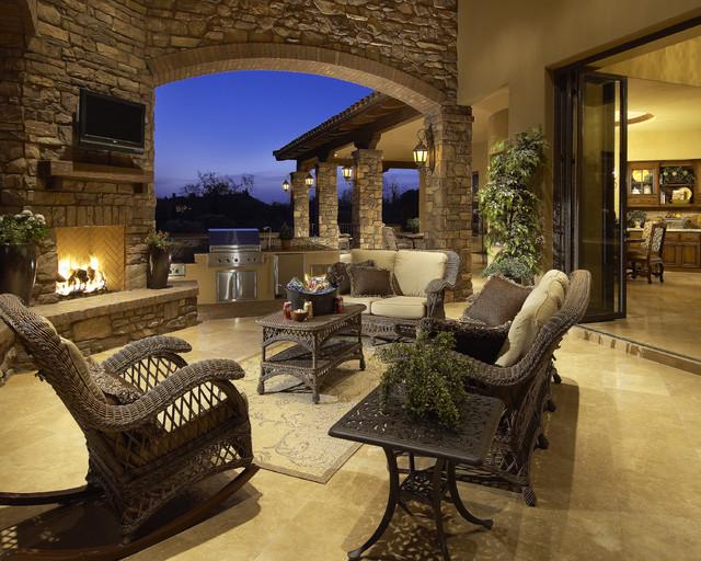 Awe Inspiring Custom Italian Villa Stone House   Coronado Manufactured Stone  Mediterranean Patio