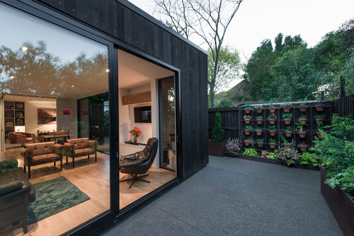 contemporary patio gardening outdoor