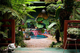 back deck and hot tub ideas - tropical - patio - los angeles - Tropical Patio Ideas