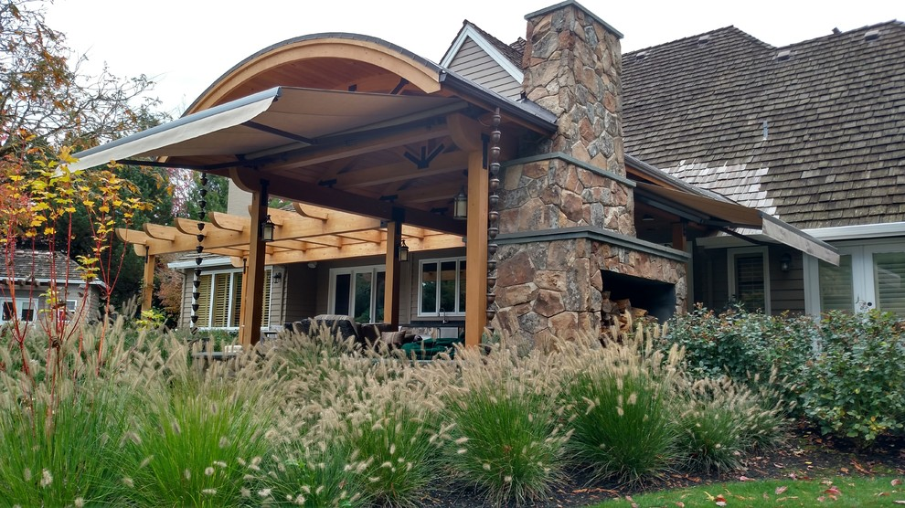 Back patio - Craftsman - Patio - Portland - by Pike Awning ...