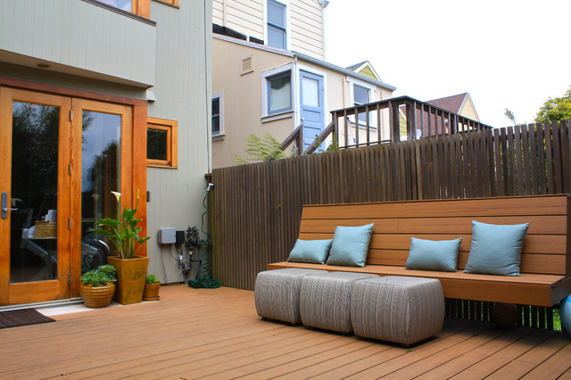 back patio contemporain terrasse et patio san francisco par shannon malone. Black Bedroom Furniture Sets. Home Design Ideas