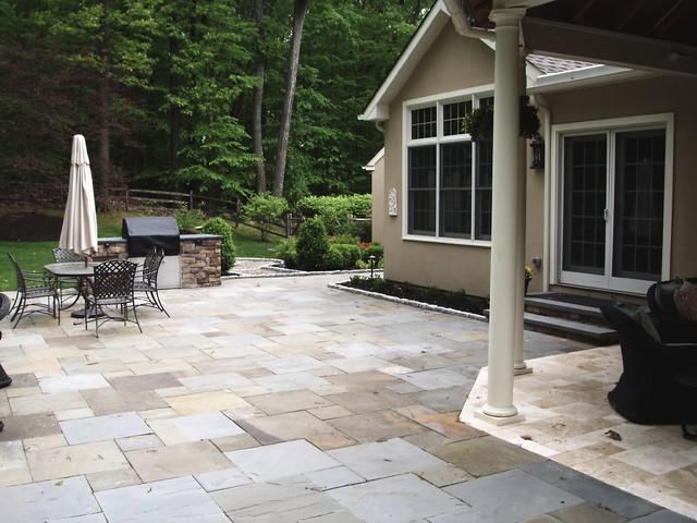 Back yard oasis traditional-patio