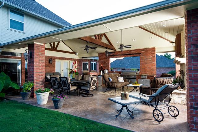backyard escapes rustic patio