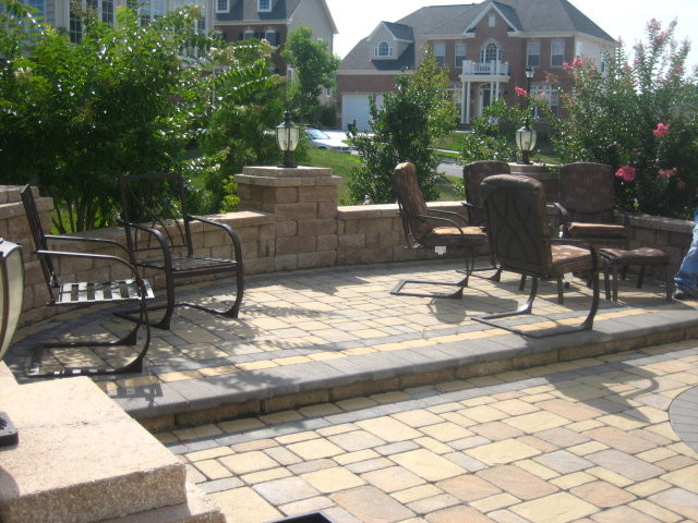 Backyard Hardscape Traditional Patio Baltimore By