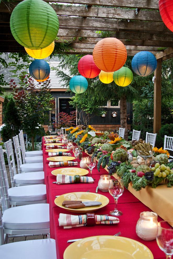 Patio - eclectic patio idea in Toronto with a gazebo