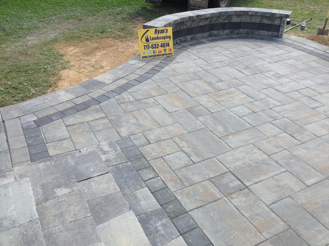 Backyard Nicolock Paver Patio Hardscape In Hanover