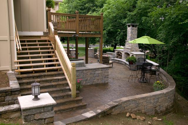 backyard outdoor living space in lenexa ks traditional patio