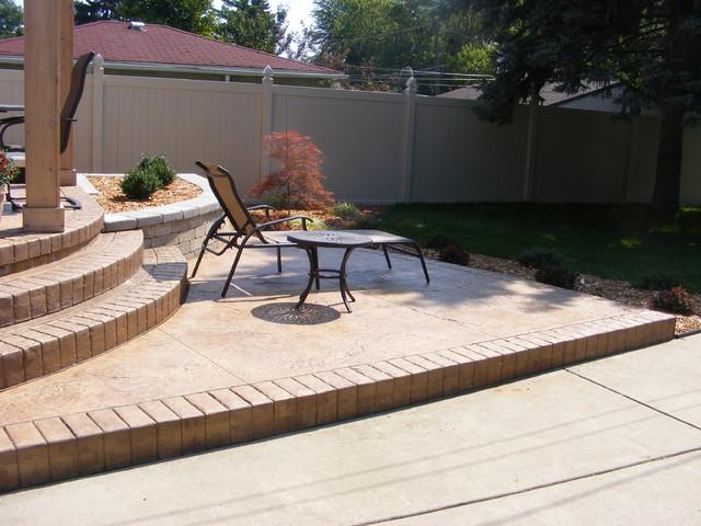 Backyard patio traditional-patio