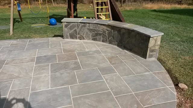 Backyard Patio Using Multi Color Amp Grouted Stamped