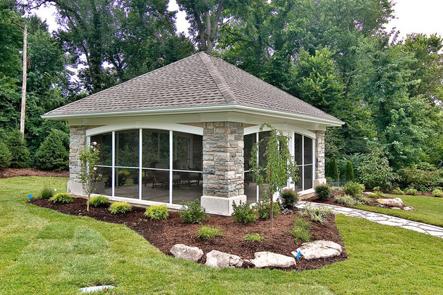 Backyard Pavilion Contemporary Patio St Louis By