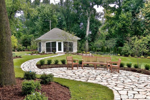Backyard Pavilion contemporary-patio
