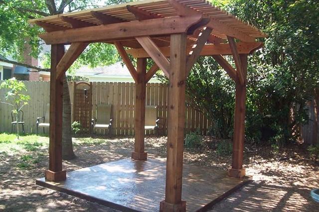 Patio Backyard Pergola : Backyard Pergola  Traditional  Patio  Houston  by Millbrook