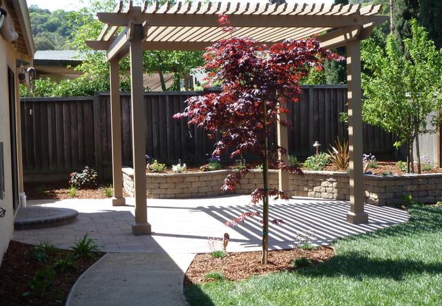 backyard pergola shade structures traditional