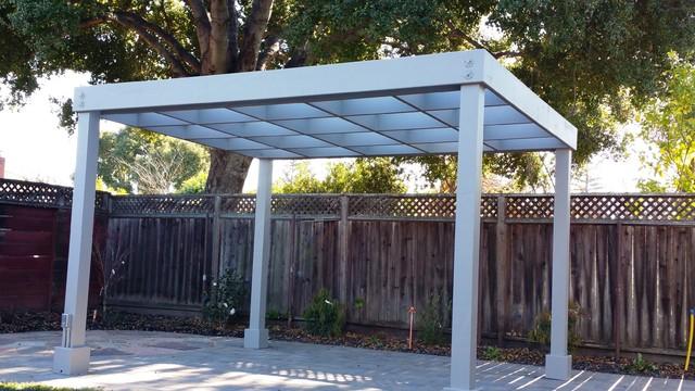 backyard pergola shade structures modern landscape