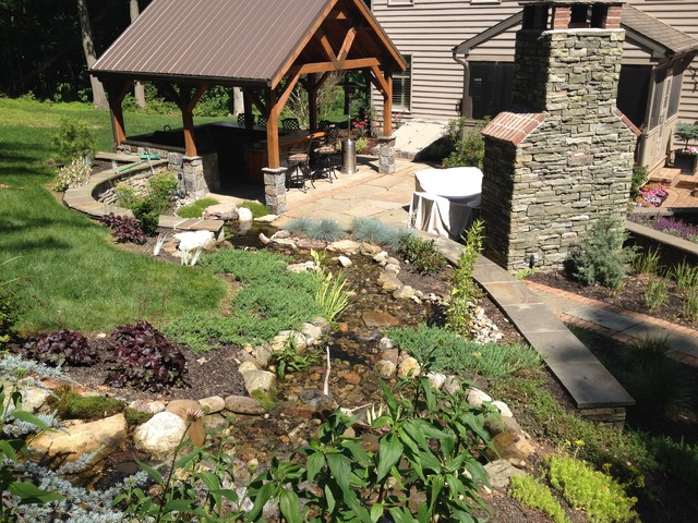Backyard pond and waterfall projects in york pa splash for Yard pond supplies