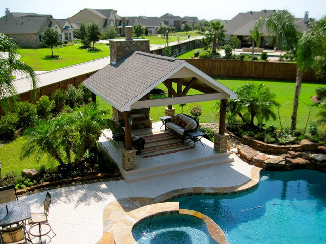 Landscaping Backyard Beach : Backyard pool landscape  Beach Style  Landscape  houston  by Fox