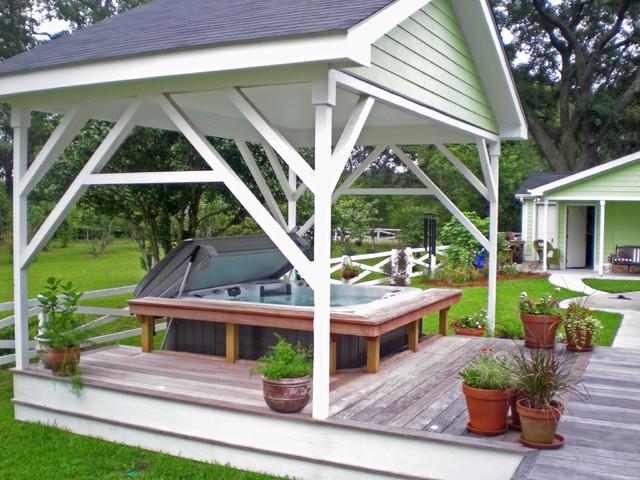 Backyard Retreat tropical-patio