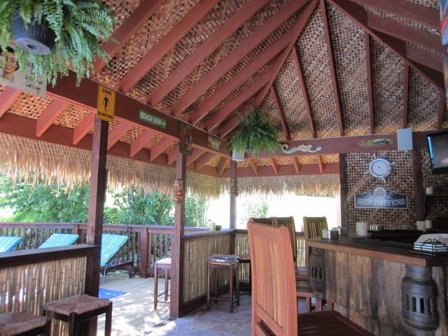 Backyard Tiki Bar Tropical Patio