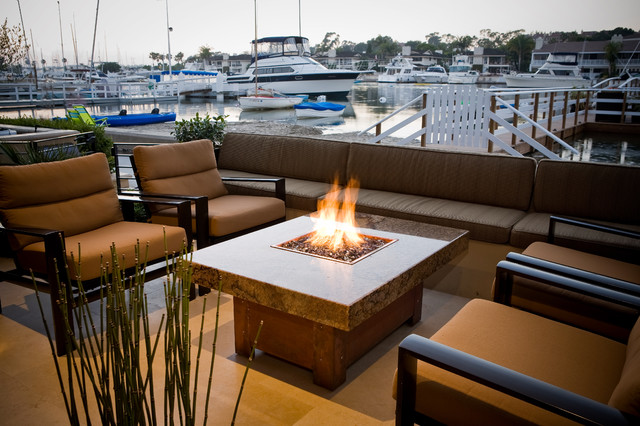 Balboa Fire Pit Table Modern Patio los angeles by Cooke Furniture