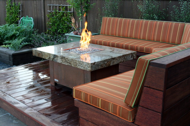 Balboa fire pit tables Eclectic Patio orange county by Cooke Furniture