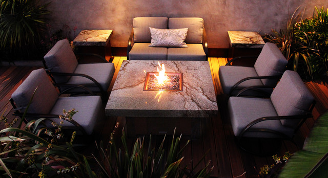 balboa fire pit tables mediterranean patio