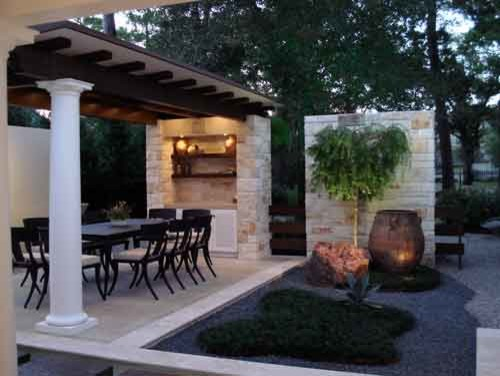 Bali Outdoor Living Area Contemporary Patio