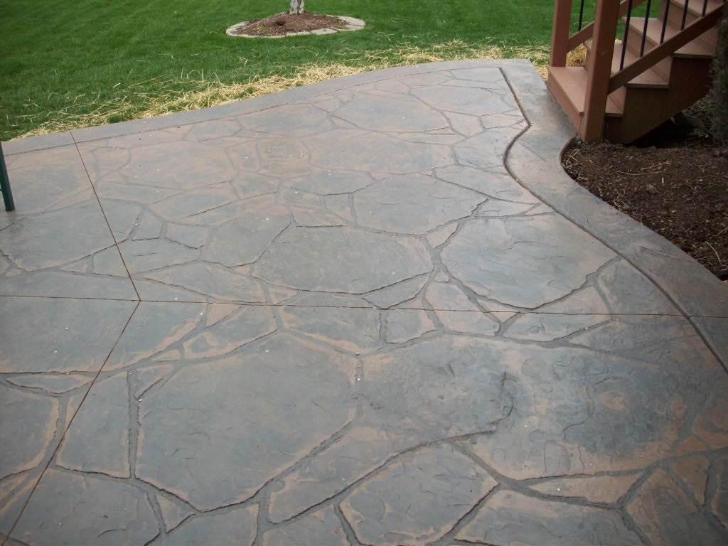 Ballwin, Missouri stamped concrete patio