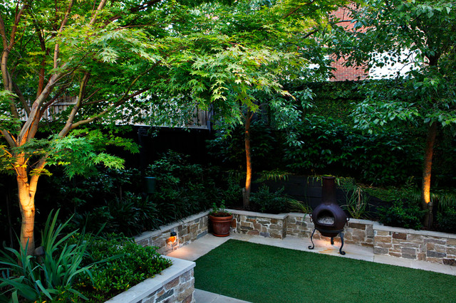Balwyn project contemporary patio melbourne by ian for Barker landscape architects
