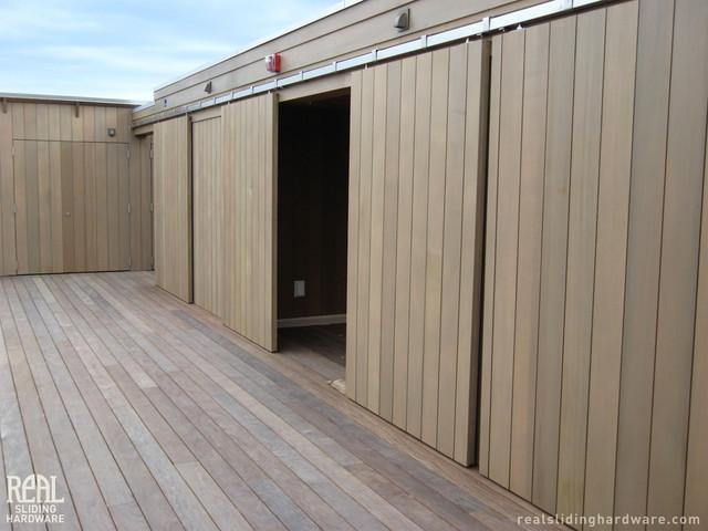 Barn Door Installations Contemporary Patio Seattle By Realcraft