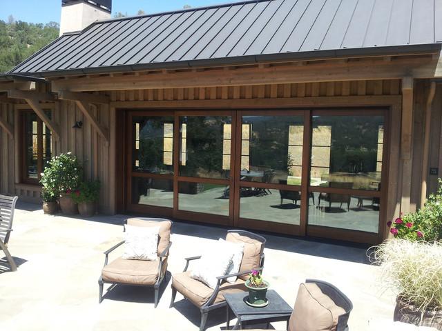 Barn Style House: Custom Windows And Doors Traditional Patio