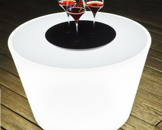 Bass Illuminated Outdoor Table - Bass illuminated outdoor side or coffee table.