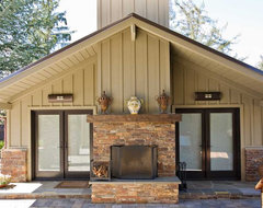Bay Area Outdoor Living Areas: Pool House, Stone Masonry Fireplace, Pergola eclectic-exterior
