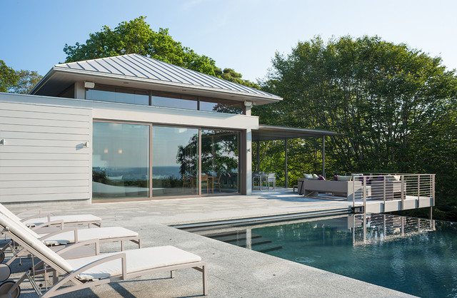 Bay View  Contemporary  Patio  Boston  by R P Marzilli & Company