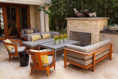 outdoor furniture or rugs indoors