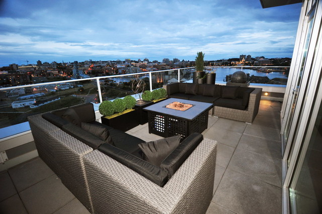 Bayview Penthouse Staging Contemporary Patio Other