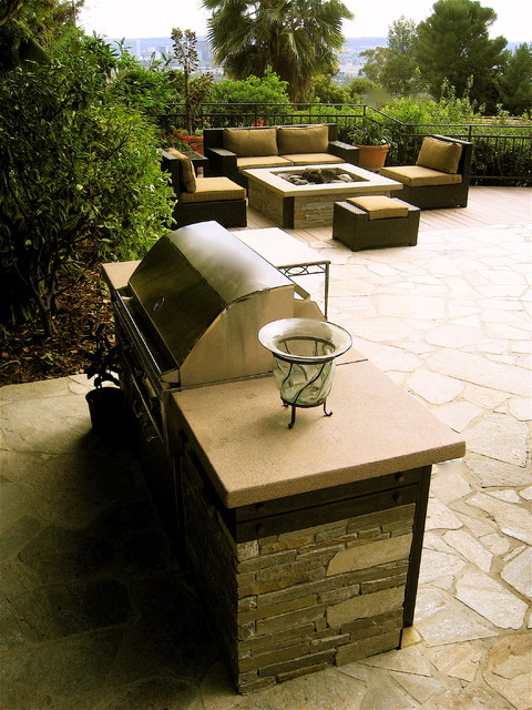 Bbq Fire Pit Modern Patio Los Angeles By Gilson