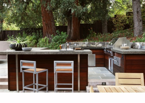 Bbq And Outdoor Kitchen Contemporary Patio San