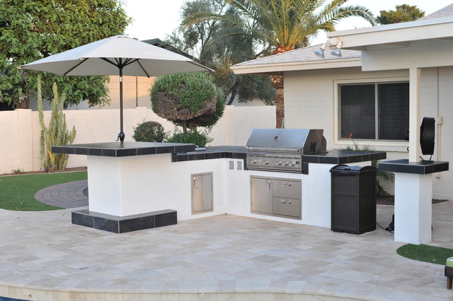 how to build a bbq island with pavers