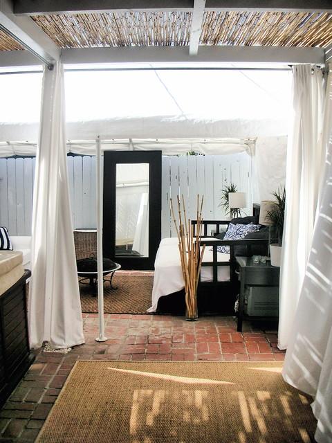 Beach Cottage exotique-terrasse-et-patio
