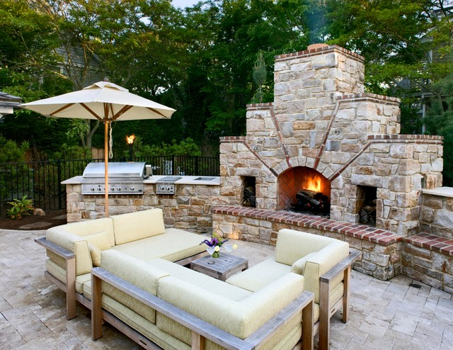 Marvelous Trendy Patio Photo In DC Metro With A Fire Pit