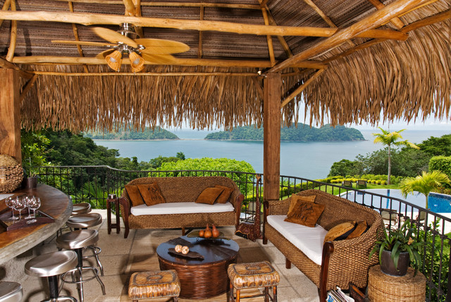Captivating Beach House, Nacar. Faro Escondido,Costa Rica Tropical Patio