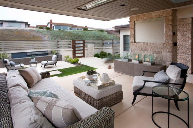 Beach Modern Outdoor Living - contemporary - porch - san diego