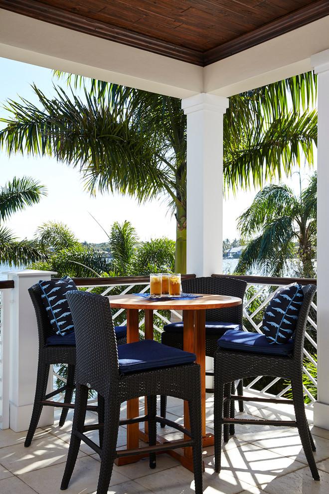 Inspiration for a coastal patio remodel in Miami